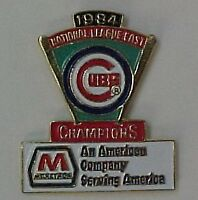 CHICAGO CUBS 1984 N.L. CHAMPS/MARATHON PIN
