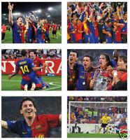 Barcelona Champions League Winners 2009 POSTCARD Set