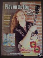 2001 Brian Tarquin ghs Guitar Strings vintage music ad