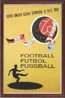 SWEDEN 1958 OFFICIAL FIFA WORLD CUP POSTER - FRAMED