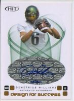 demetrius williams rookie auto autograph oregon ducks #