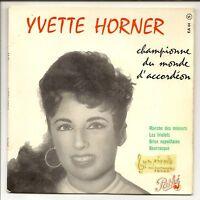 """HORNER Yvette MUSETTE 45 tours 7"""" EP MARCHE DES MINEURS"""
