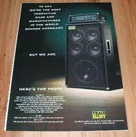 Trace Elliott AH1000 bass amplifier-magazine advert
