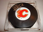 Brett Carson Signed Calgary Flames Hockey Puck Auto.