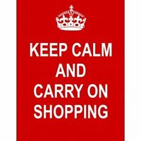 P2387 KEEP CALM AND CARRY ON SHOPPING NEW FUNNY POSTER
