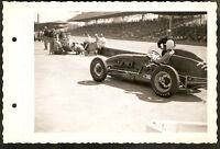 Original Photo 1951 INDIANAPOLIS 500 ~ Race Car PIT b