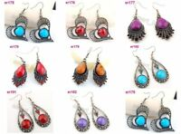 8 mixed style Tibet Silver Crystal Earrings er175-182