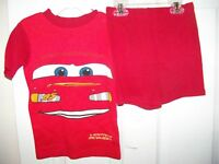 Disney Cars Red Short Pajama PJ 2 Piece Set Boys Size 6 NWT #110
