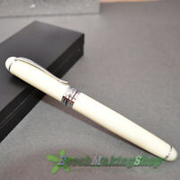 JINHAO M NIB FOUNTAIN PEN X750 IVORY WHITE new Free Shipping