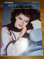 VINTAGE KNITTING PATTERN - PATONS SPECIAL EFFECTS CHUNKY LADYS & MENS BOOKLET