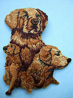 IRON-ON EMBROIDERED PATCH - GOLDEN RETRIEVER #2 - DOG