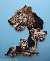 IRON-ON EMBROIDERED PATCH - AIREDALE TERRIER - DOG