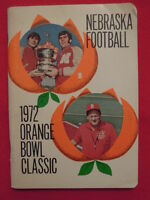 1972 Nebraska Orange Bowl Classic NCAA Football Media Press Guide