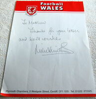 AUTOGRAPH MIKE SMITH FORMER FOOTBALL MANAGER WALES