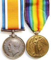 WW1 BRITISH WAR & VICTORY MEDAL PAIR WINNALL.YORKS.L.I