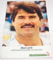 AUTOGRAPH ALLAN LAMB - ENGLAND CRICKET CAPTAIN - Northamptonshire County Cricket