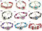 1pcs Fashion Elegant Slap-up handmade tibetan silver beaded charm bracelet J8P6