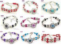 1pcs Fashion Elegant Slap-up handmade tibetan silver beaded charm bracelet  J8P6