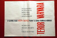 GOLIATH & BARBARIANS ITALIAN STEVE REEVES 1959 EXYU MOVIE INSERT