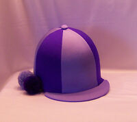 RIDING HAT COVER - LILAC & PURPLE