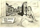 1957 BOLOGNA Panorama della città *Cartolina Postale FG VG