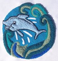 Webster Craft Punch Needle Dolphin reef with yarn large