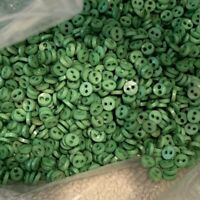 30+ 4mm Micro Tiny Green Doll  Buttons Round (TA052)