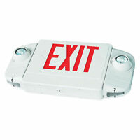 Combo LED EXIT SIGN and Emergency Lights Lighting E4AR