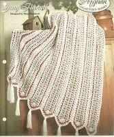 Crochet Instructions Pattern~Gray Flannel Afghan Pattern~Home Decor Blankets