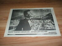 Madness-1982 poster size press advert