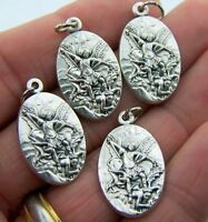 Gild Silver Set Bulk Lot 4 Catholic Charm Medal Saint Michael Religious