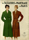 LA REVUE PARIS MODES TAILLEURS ET MANTEAUX DE PARIS HIVER 1951 BRYN SMITH