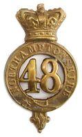 VICTORIAN 48TH NORTHAMPTON GLENGARRY BADGE