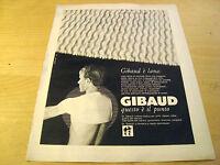 PUBBLICITA' ADVERTISING WERBUNG 1967 GIBAUD COPRISPALLE