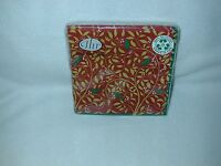 FROM IDEAL HOME RANGE''WILLOW BIRDS''DARK RED 20 LUNCH PAPER NAPKINS-NEW-SEALED