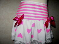 White,Neon Pink,Stripes,Hearts Lace Frilly Festival Mini Skirt,Punk-All sizes