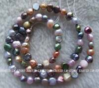 5x6mm Multicolour pearl Freeform Beads 15""
