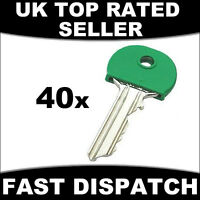 40 X COLOURED KEY TOP COVERS COVER TAGS CAP CAPS ID MARKERS ASSORTED COLOURS