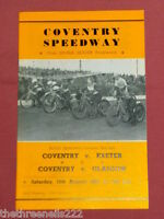SPEEDWAY PROGRAMME - COVENTRY V EXETER V COVENTRY V GLASGOW - AUG 19 1967