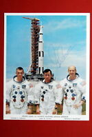 EUGENE A. CERNAN SIGNED APOLLO 10 CREW ORIGINAL LITHO 8X10 NASA SPACE