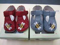 Start Rite - Baby's First Shoes - Bumble - Red or Blue Leather Bumble Bee Design