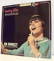 33T Mireille MATHIEU Disque LP EN DIRECT DE L'OLYMPIA - BARCLAY 80363 F Réduit