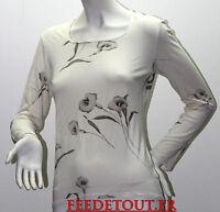 tee shirt manches longues blanc casse  imprime caroll t 42