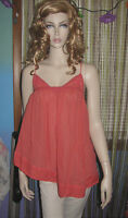 NEW! FREE PEOPLE SWEPT HIGH Sheer Tent Asymetrical Hi Low TUNIC TOP XS S M $88