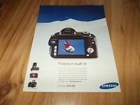 Samsung Pro 815 camera-2006 magazine advert