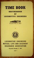 1971 Brotherhood of Locomotive Engineers Time Book - NICE!