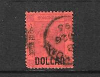 HONG KONG 1891 $1 on 96c  QV FU   SG 50