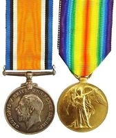 WW1 BRITISH WAR & VICTORY MEDAL PAIR BROWN.MIDD'X.R