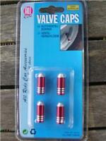 Brand New Valve Caps  Dust Caps Bullet Style 4pc Red