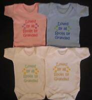 Loved By All Spoilt By Grandad Babies Vest Grow Boy Girl Baby Clothes Funny Gift